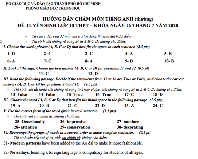 tieng anh hcm 8